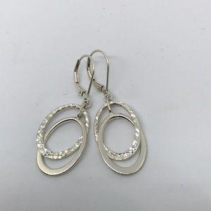 Jewelry - Sterling Diamond Cut And High Polish Earring